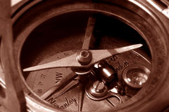 Antique compass royalty free stock photo