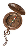 Antique Compass Isolated. On white Stock Photo