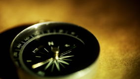 Antique Compass (macro close-up) stock footage