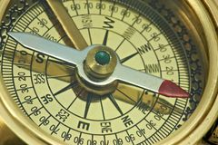 Antique compass. Royalty Free Stock Images