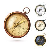 Antique compass set Stock Photos