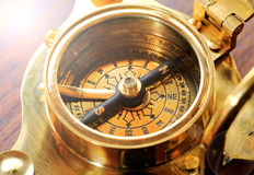Antique Compass / Sundial Royalty Free Stock Images