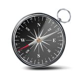 Antique Compass Vector. Metal Compass 3d Object. Isolated Illustration royalty free illustration