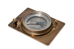 Antique compass on white background. Royalty Free Stock Photography