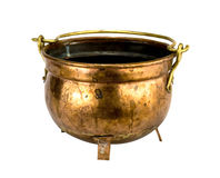 Antique copper bowl Royalty Free Stock Image