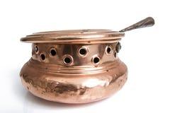 Antique Copper Brazier Stock Images