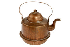 Antique copper coffee pot. On white background Stock Image