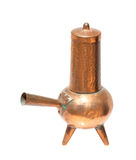 Antique copper coffeepot Stock Image
