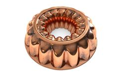 Antique Copper Jello Mold Ring Stock Photos