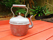 Antique Copper Kettle Stock Photography