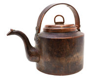 Free Antique Copper Kettle Isolated On White Stock Image - 36813571