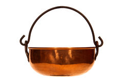 Free Antique Copper Kettle Isolated On White Stock Photos - 4241383