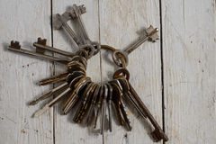 Antique copper keys Royalty Free Stock Image