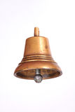 Antique copper small bell isolated on  white background Stock Images