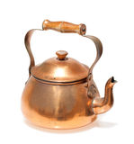 Antique copper teapot Stock Images