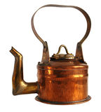 Antique copper teapot Stock Photos