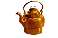 Antique copper teapot Royalty Free Stock Photography