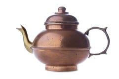 Antique copper teapot Stock Photo