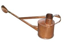 Antique Copper Watering Can Royalty Free Stock Image