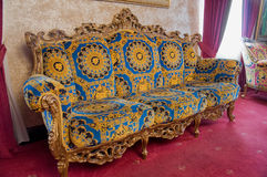Antique Couch. In an old Mansion Royalty Free Stock Photos