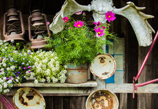 Antique Country Store front porch. This is a photo of an antique wooden store in alaska Royalty Free Stock Photo