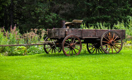 Antique Country wagon. This is a photo of an antique wooden wagon in alaska Stock Image