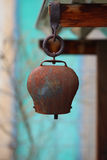 An antique cowbell. Stock Images