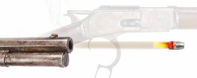 Antique Cowboy Rifle Royalty Free Stock Photos