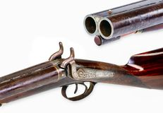 Antique Cowboy Shotgun. Royalty Free Stock Photos