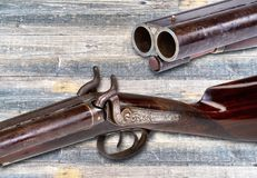 Antique Western Shotgun. Royalty Free Stock Images