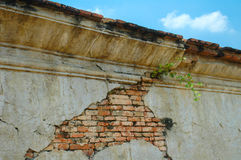 Antique and cracked old brick wall Royalty Free Stock Photos