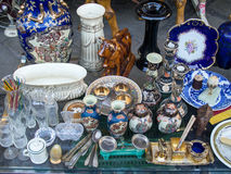 Antique Crockery and Glassware Stock Image
