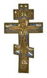 Antique cross. Isolated on white, clipping path included Stock Photo