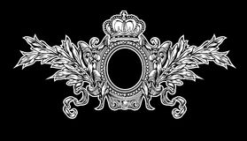 Antique Crown Royal Frame Royalty Free Stock Photography