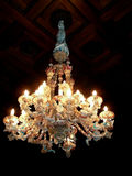 Antique crystal chandelier Stock Image