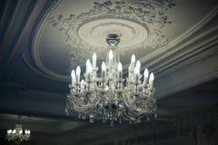 Antique crystal chandelier Stock Image