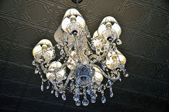 Vintage crystal chandelier Royalty Free Stock Photography