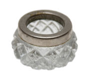 Antique crystal inkwell isolated Royalty Free Stock Photo