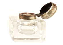 Antique crystal inkwell Stock Photography