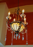 Antique Crystal Lighting Fixture Stock Photo