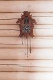 Antique cuckoo clock stock image