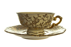 Antique cup and plate Royalty Free Stock Photography