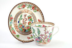 Antique Cup & Saucer Stock Image