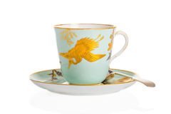 Antique Cup & Saucer Stock Photo