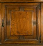 Antique Cupboard Door with Key Lock Stock Photography
