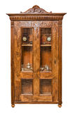Antique cupboard. Isolated on white background Stock Images
