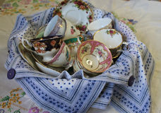 Antique Cups and Saucers Stock Photos