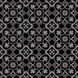 Antique, curve, damask, black, baroque, exquisite, victorian, silver, vine, round, luxury, dark, retro, fsquare check cross flower Royalty Free Stock Images