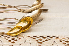 Antique cutlery Stock Images