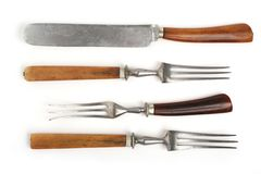 Antique cutlery-fork Royalty Free Stock Image